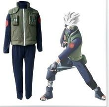 Наруто Kakashi косплей костюмы одежды топ + жилет + брюки хеллоуин костюм , потому 3 шт./компл.