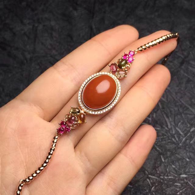 Estilo vintage jóias finas 925 reais de prata esterlina 100% Natural perfact agate bracelet bangle para as mulheres à venda