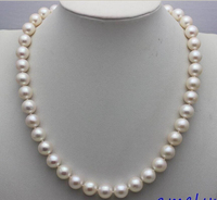 A High Quality White Freshwater Pearl Necklace 10 11mm17 5 Handmade Alloy Beauty