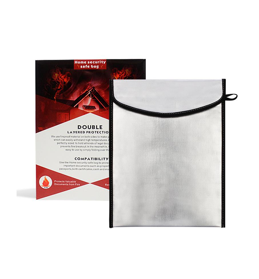 Two Sided Aluminum Foil Coated Waterproof Fire-proof A4 File Document Bag R20