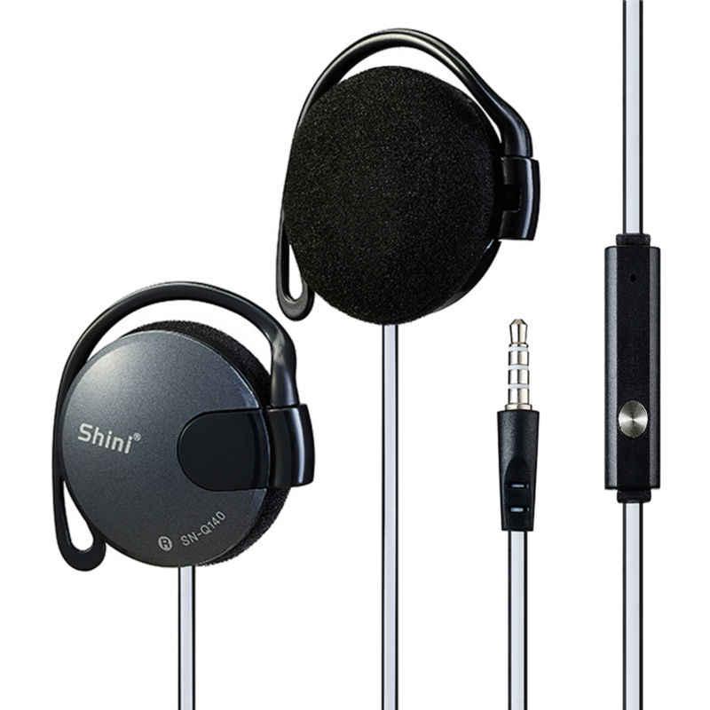 الأصلي Q140 سماعة رأس ستيريو الأذن هوك سماعات 3.5 مللي متر مع Mic سماعة الألعاب ل MP3 PC كمبيوتر محمول الهاتف المحمول