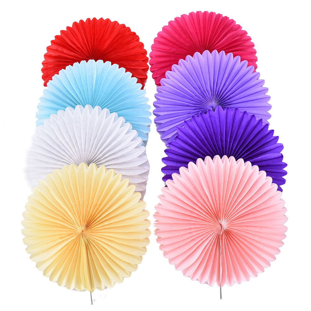 1PC 25cm Tissue Paper Fan 8colors DIY Crafts Hanging Wedding Supplies Birthday Party Decorations Kids Decoupage Home Decorative