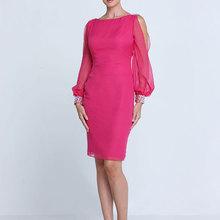New Fashion Custom Made Elegant Sheath Bateau Neck Long Sleeve Beaded Floor Length Mother Of The