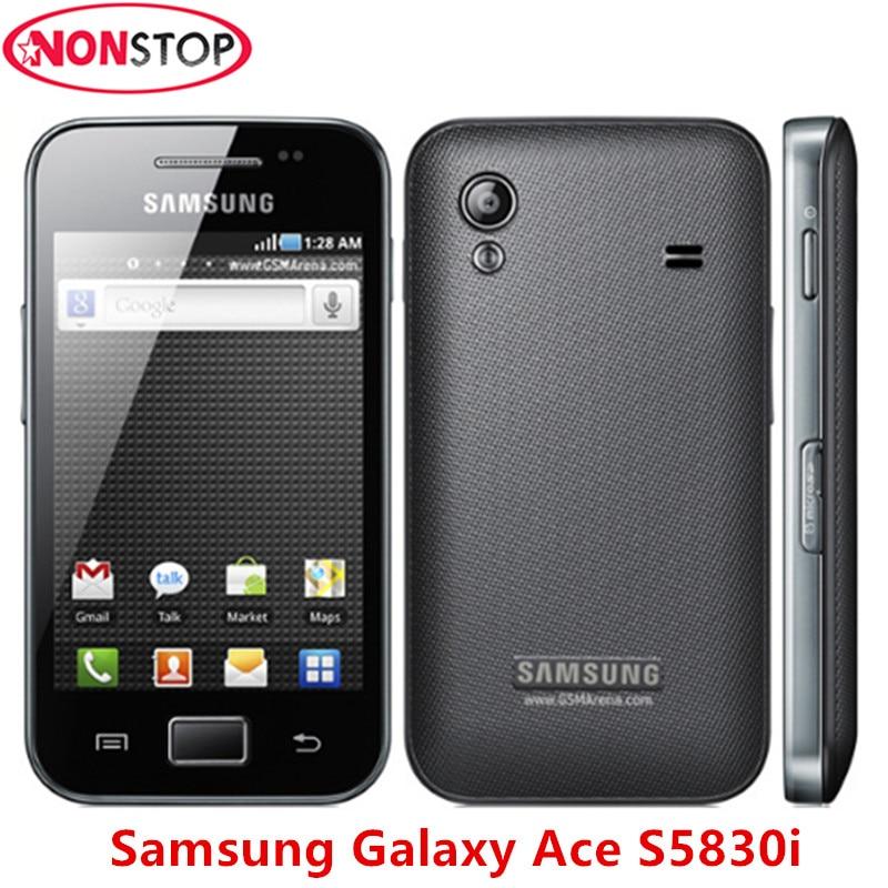 Разблокировать S5830i samsung Galaxy Ace S5830 оригинальный Android 5MP WI-FI gps открыл мобильный телефон Бесплатная доставка