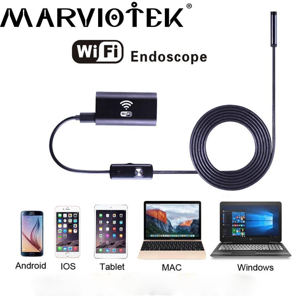 imágenes para H760P WiFi 9mm dia metal endoscopio 6LED del coche Android IOS PC soporte IP67 a prueba de agua serpiente endoscopio industrial cámara de seguridad