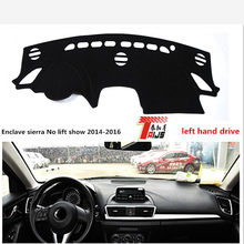 TAIJS LIFT hand drive Exquisite style car dashboard  for Mazda Enclave Sarah No Lift show 2014-2016 sunblock Mat  for Mazda