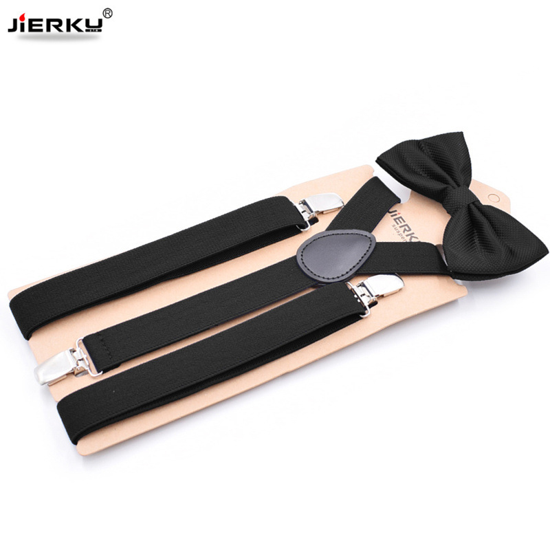Man's Suspenders With Bow Tie 3 Clips Braces Set Male Vintage Casual Suspensorio Trousers Strap Father/Husband's Gift S