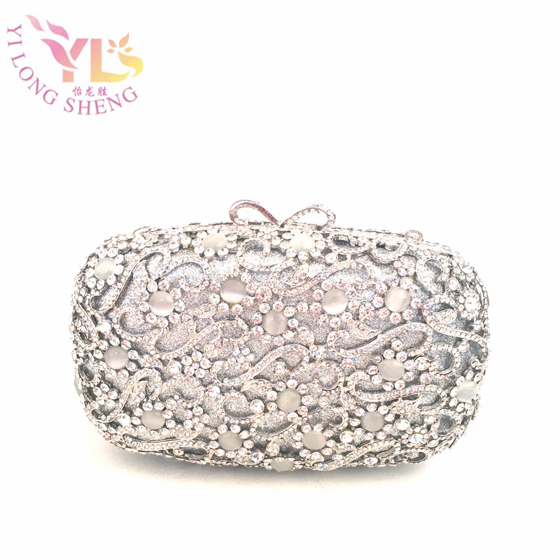 Fashion Clutch Bag Silver Vintage Handbags Clutch Crystal Clutch Fancy Bags Crossbody Messerger Bags YLS-J21 yessun car front camera for audi a6 high edition dvr driving video recorder black box dash cam head up plug oem 1080p wifi