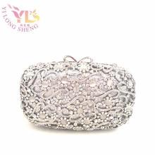 Fashion Clutch Bag Silver Vintage Handbags Clutch Crystal Cl