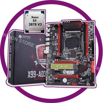 HUANANZHI X99 LGA2011-3 descuento Placa base con M.2 NVMe ranura de la placa base con CPU Xeon E5 2678 V3 SR20Z 12 core 24 hilo de rosca