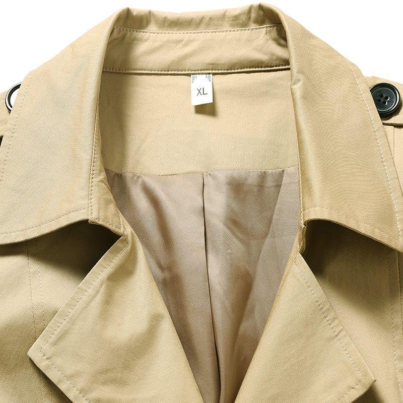 Xl 2018 Casual Formato Donne Outwear Giacca Più xxxxxl Giù Outfit Collare Trincea Femminile Sottile A Autunno Il Cachi Elegante Vestiti Di Girare Vento Cappotto xwxrd1qtR