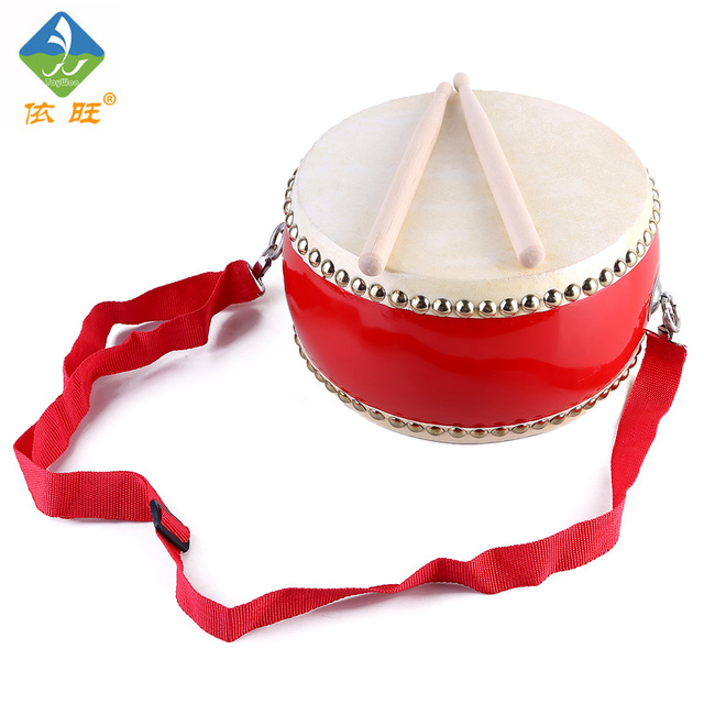 Toy Woo Wooden Chinese Traditional Musical Instruments Waist Drum For 2~4 Years Old Children Music Early Education Toys