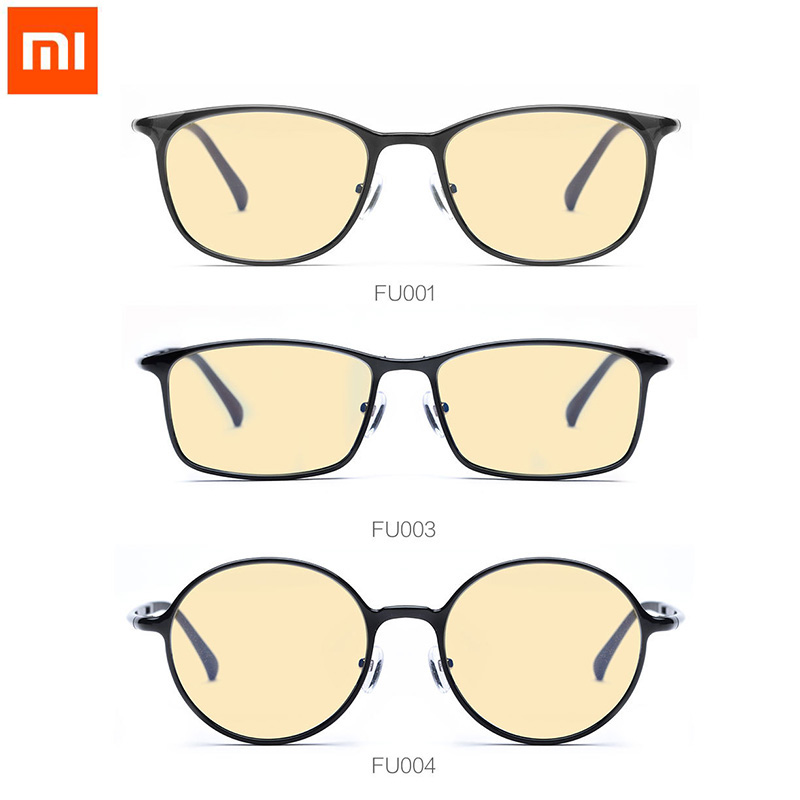 Eye Protector For Play Phone Computer Games TV Round/Square/Oval Glasses Xiaomi TS 60% Anti-blue-rays 100% UV Protective Glasse lowest price original xiaomi b1 roidmi detachable anti blue rays protective glass eye protector for man woman play phone pc