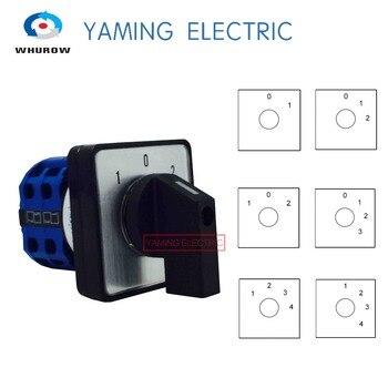 LW28-20-interruptor eléctrico YMW26 Serie 2/3/4 posición 8 terminales rotativos cambio de cámara con tornillos herramienta útil 660V 20A, LW26-20 1