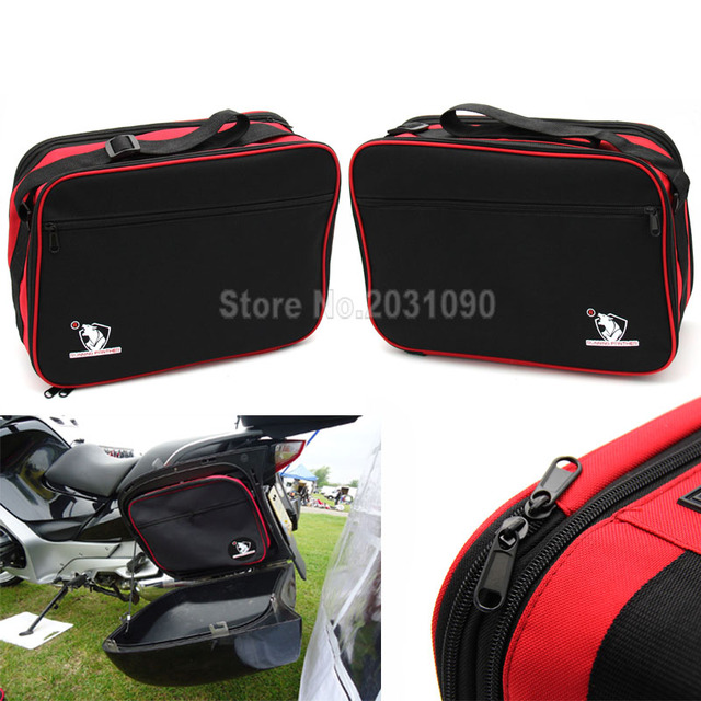 FOR BMW R1200RT R1200R K1200GT K1300GT Pannier Liner Bags Expandable Red/Black Great Quality New Pair