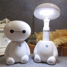 Creative LED USB Charging Energy Saving Night Light Telescopic Fold Child Cartoon Gift Night Light Mini Cute For Read Table Lamp mini cartoon led night lights lamps cute pat fish cat light table lampe colorful led night lamp gift