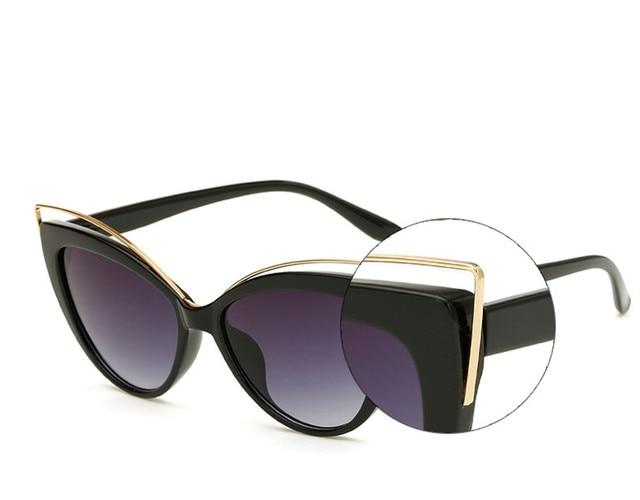 VWKTUUN Wunglasses Women 2020 Vintage Cat Eye Shades Hollow Out Frame Women's Glasses Oversized Sunglasses Woman Brand Designer 6