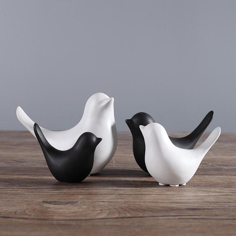 Modern minimalist Scandinavian style ceramic bird ornaments Home decorations crafts Figurines ceramic birds Wedding gifts