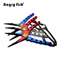 Angryfish Aluminium Angeln Zangen Split Ring Schneider Angeln Haken Remover Angeln Clamp Tackle L2 Doppel Farben|tackle|tackle fishing  -