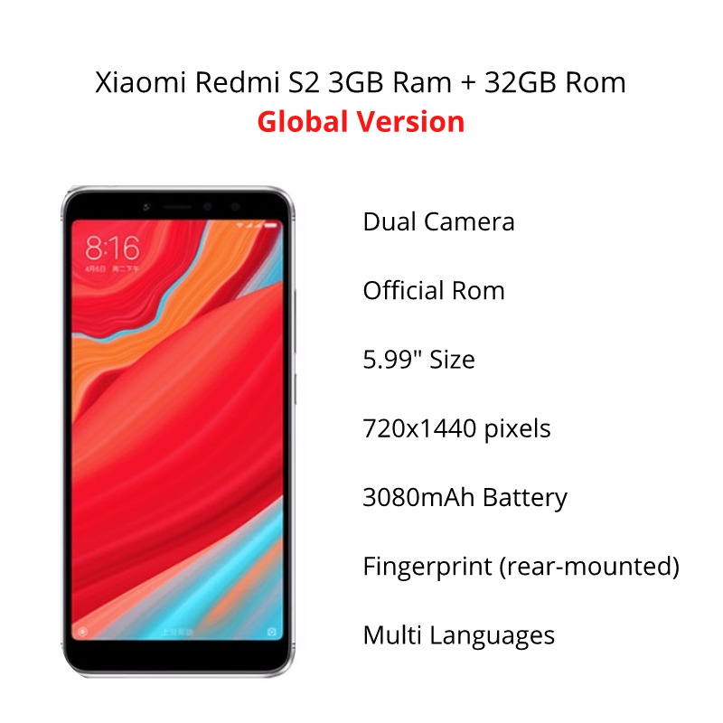 Image 3 - Global Version Xiaomi Redmi S2 32GB ROM 3GB ROM (Brand New and Sealed)-in Cellphones from Cellphones & Telecommunications