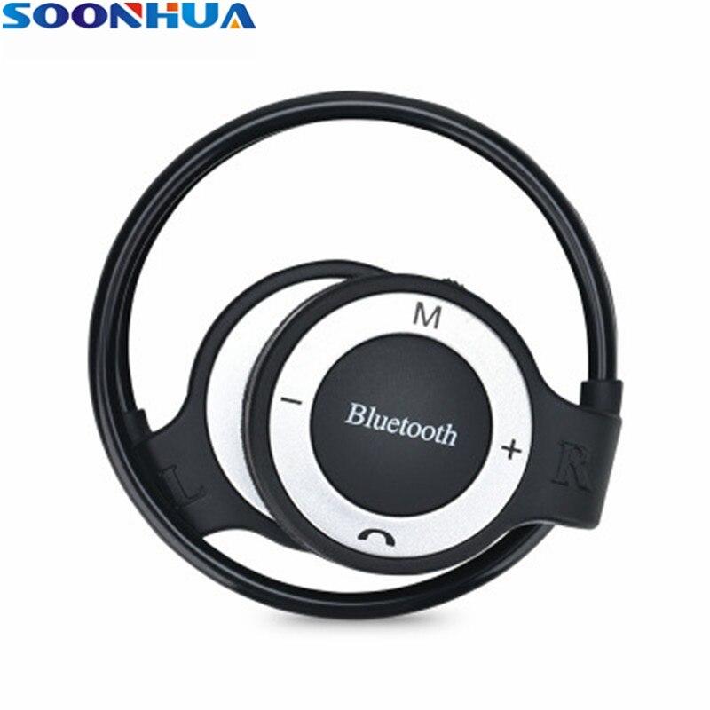 SOONHUA Wireless Bluetooth Earphone Sports Earhook Earpiece Headphone Business Stereo Headset Support TF Card With Handsfree Mic