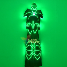 LED Clothes Glowing 2015 Hot Fashion LED Lights Luminous Costume Clothing Robot Stilts Suits Costume Men Dance Accessories
