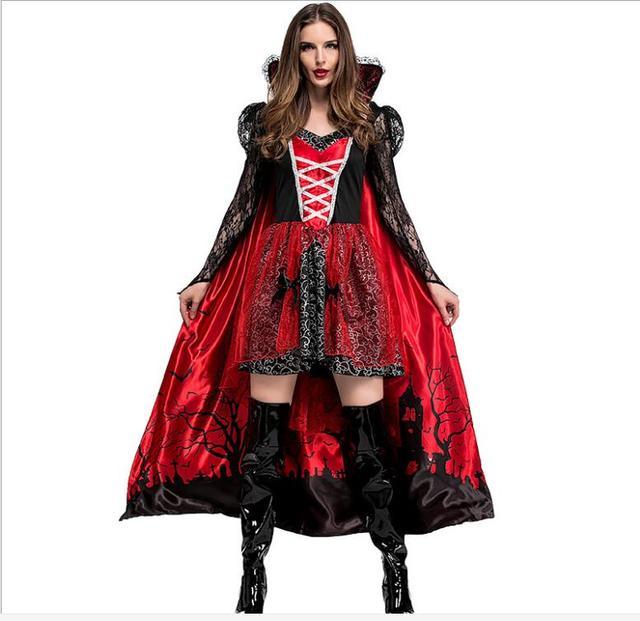 moda di vendita caldo ordinare on-line varietà larghe US $27.58 11% di SCONTO|Gothic Costume Sexy del Vestito di Halloween  Costume Sexy Strega Vampiro del Costume Delle Donne Del Partito di  Travestimento ...