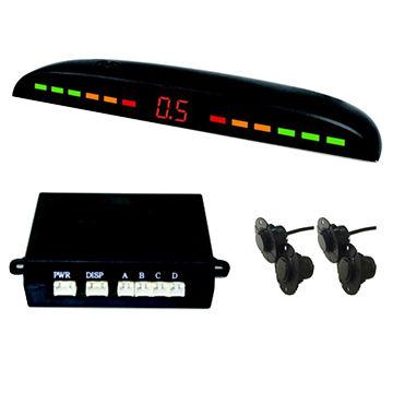 Color <font><b>LCD</b></font> display <font><b>led</b></font> parking sensor 4 radar back up slim flat 16mm sensor <font><b>kit</b></font> with waterproof plug and Turn on/off switch set