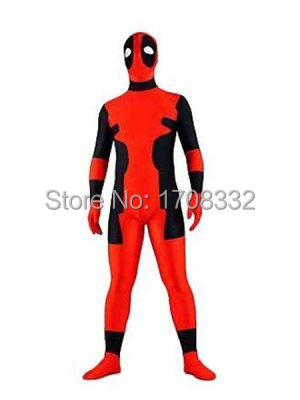 Deadpool costume red and black Deadpool superhero costume Spandex Zenta suit online wholesale