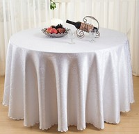 Large 120inch Table Cloth Polyester Jacquard Tablecloths For Wedding Table Cloth Round Printed Embroidered Table Table Cloth