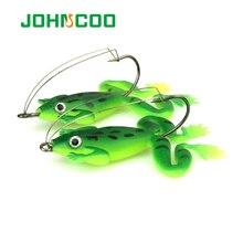 JOHNCOO 4pcs Frog Lure Fishing Lures 6cm 5g Artificial Fishing Bait Topwater Wobbler Bait For Pike Snakehead Soft Bait