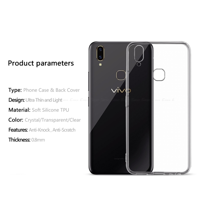 Back Cover For BBK vivo V11 V15 Pro V11i V5 V5s V7 V9 Youth Lite Plus V1 V3