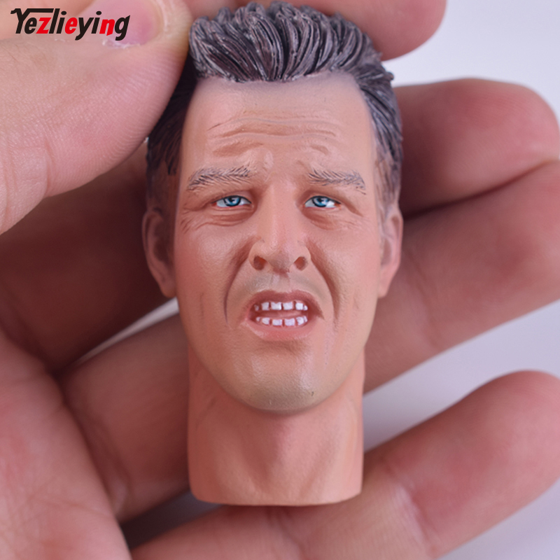 DID60048 - Caucasian Head (Open Mouth) #D01 - 1/6 Scale - Fit 12 Inch HT TTL head carving (Can Use US military) Action Figure