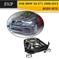 FRP черный автомобиль аксессуары наборы для тела BMW X6 E71 утилита 4 двери 2008 2013