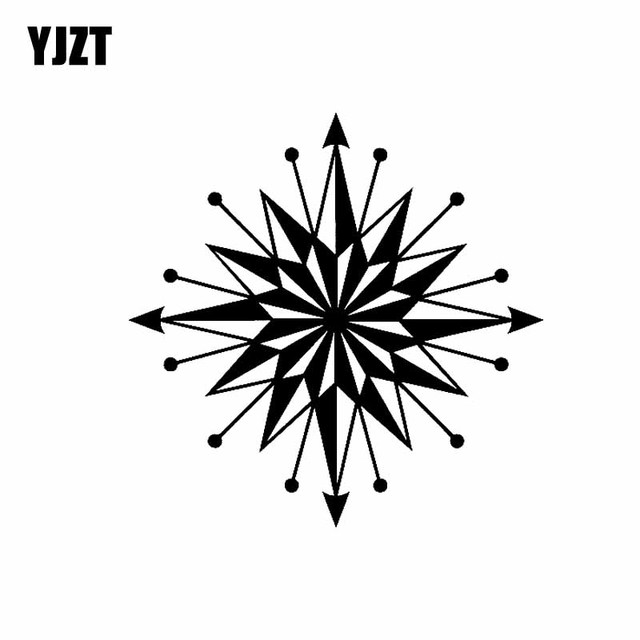 Yjzt 15 2cm15 2cm Tribal Compass Nauticalcar Boat Bike Window Vinyl