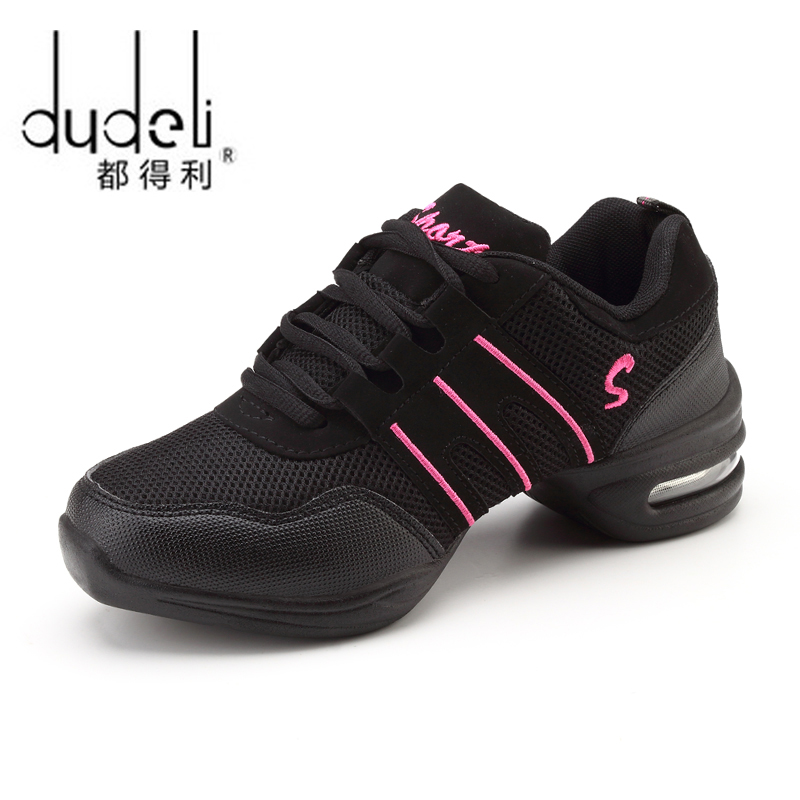 DUDELI New Soft Outsole Breath Dance Shoes Women Sports Feature Dance Sneakers Jazz Hip Hop Shoes Woman Dancing Shoe Zapatos(China)