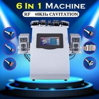 6 в 1 Ультразвуковая Кавитация тела Lipolaser вакуумные машины для похудения ультразвуковая снижение веса при помощи кавитации спа лечение обор