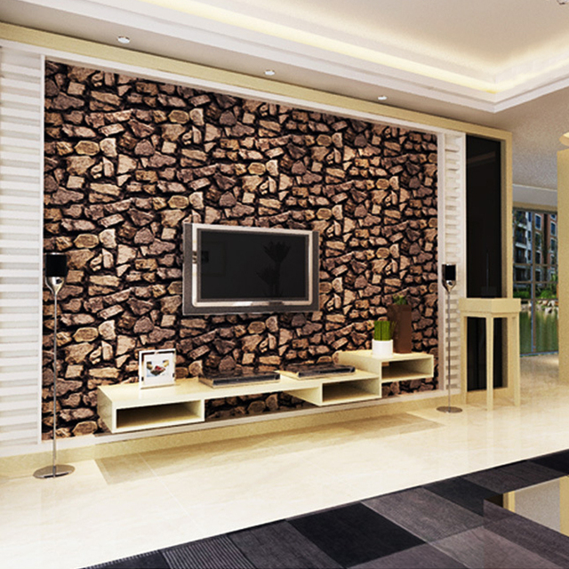 3d Stone Wallpaper Luxury Vintage Brick Effect Wallpaper For Living Room Tv Background Wallpaper