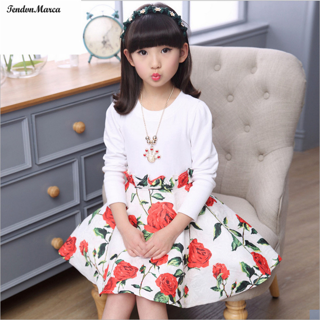 234001993 Girls Dresses Summer 2017 Children Dress for Girls 11 years old Long Sleeve  Kids Clothes Girls Flower Girl Dress Party Dresses