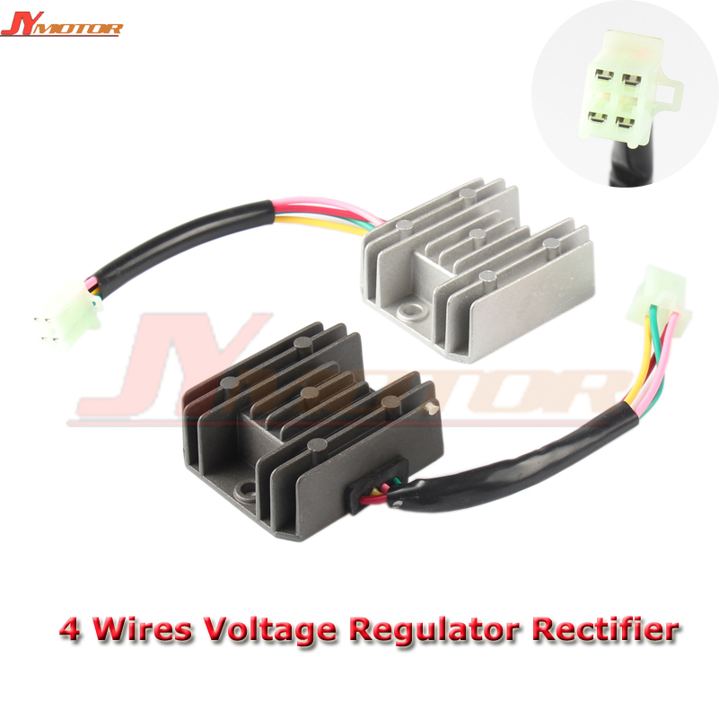 Rectifier Motorcycle Voltage-Regulator Moped Boat Scooter GY6 150cc TAOTAO ATV 4-Wires