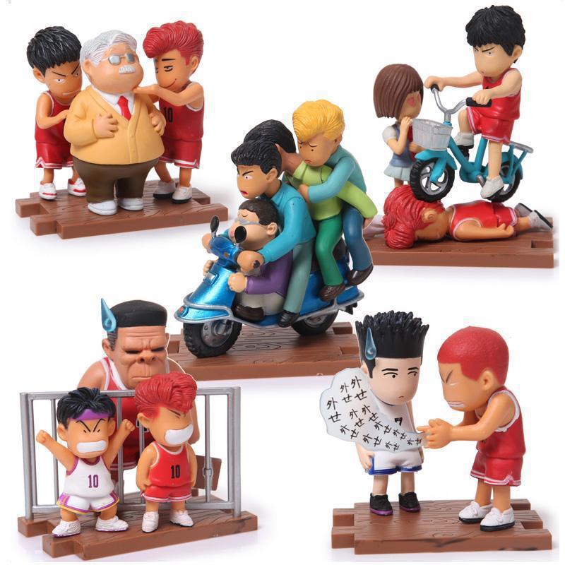 Anime Slam Dunk PVC Action Figure Toys Boys Basketball Birthday Christmas Gifts 5pcs/set Free Shipping
