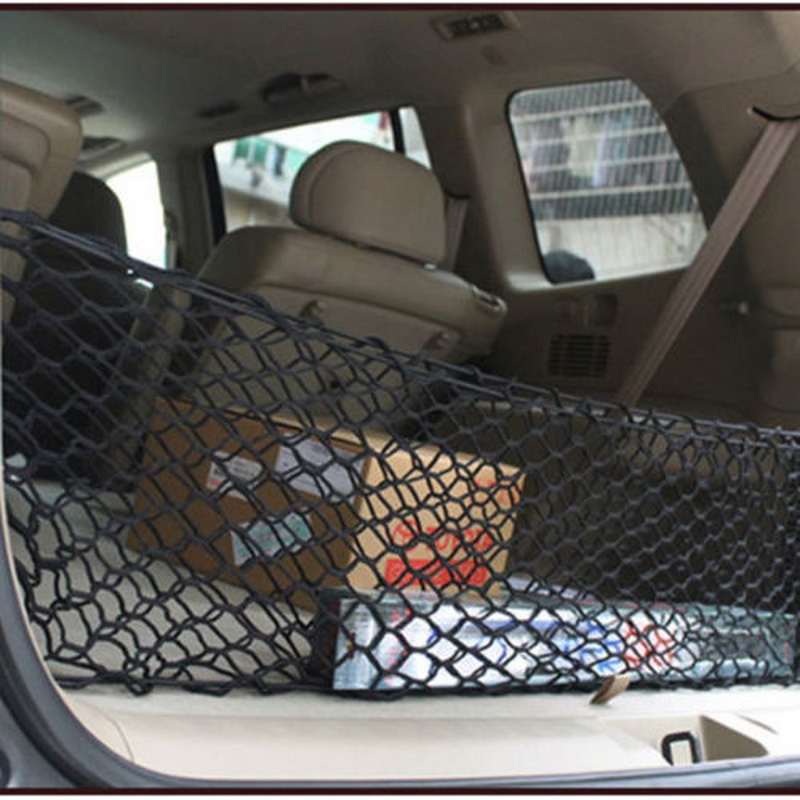 Image 5 - 90cm x 40cm Car Seat Back Storage Mesh Elastic Net Bag Double Layer Vertical Shielding Net Trunk Organizer Protected Rear Door-in Stowing Tidying from Automobiles & Motorcycles