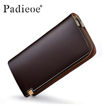 Padieoe Top quality Cattle Split leather Unisex wallet Purse Fashion Designer Durable Man wallets famous brand women wallet