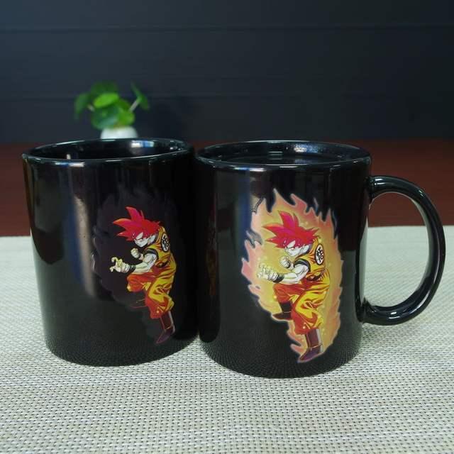 Goku Mug Changing Color Heat Reactive