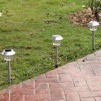 2017 New Solar LED Light Outdoor Solar Lawn Garden Lights Landscape Path Stake Solar Lamp Stainless