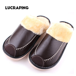 Plus size 35 44 genuine leather warm winter home slippers non slip thick warm house shoes.jpg 250x250