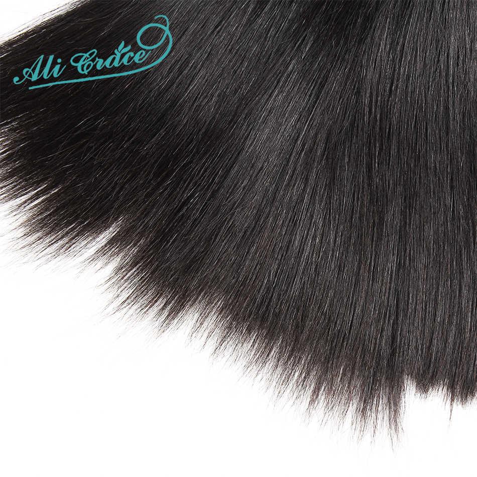 ALI GRAZIA capelli Indiani Capelli Lisci Capelli 3 Pcs Pacchi Dei Capelli Umani di Remy di Estensione Dei Capelli 10-28inch di Colore Naturale di Trasporto trasporto libero