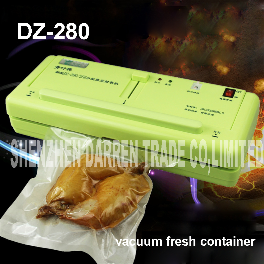 все цены на DZ-280/2SE household Food Vacuum Sealer packing  Film Sealant Vacuum packers Giving Wet and dry dual-use with Vacuum Bags в интернете