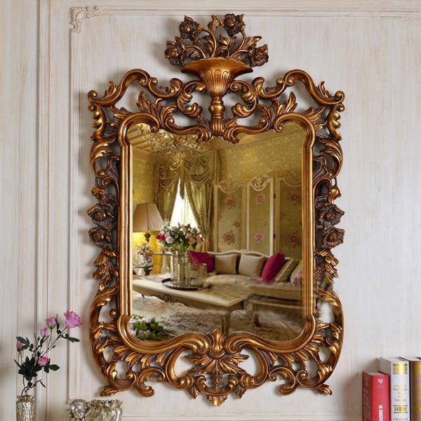 Antiguo europeo refinado lujo marco de oro arte de la pared ...