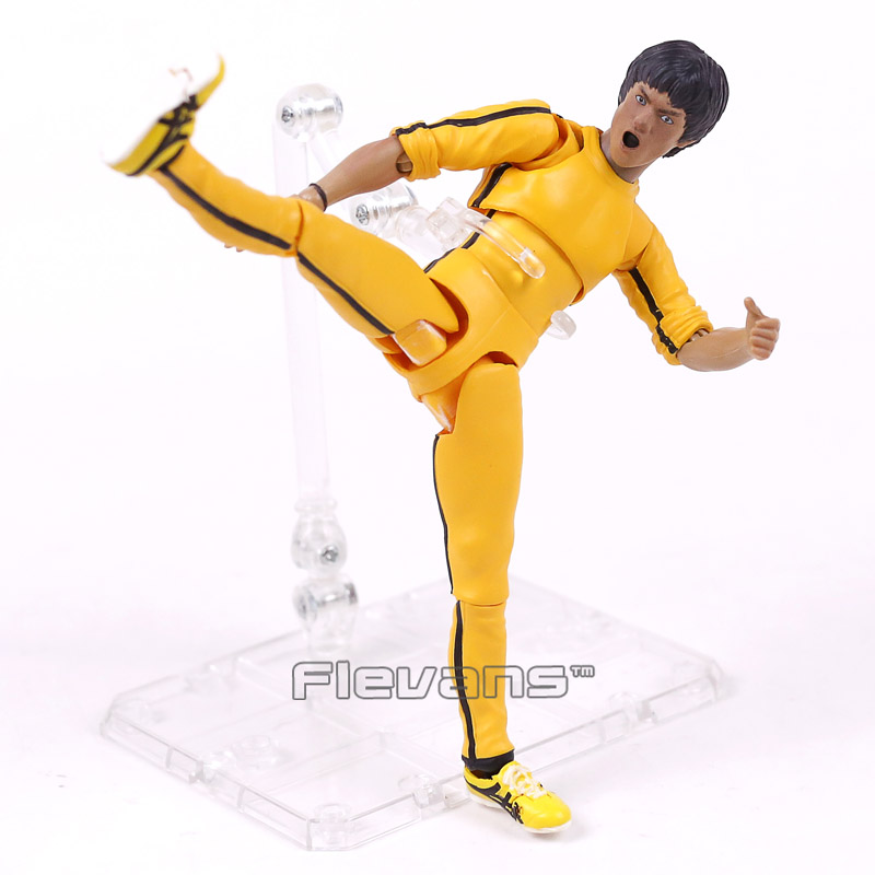 SHF S.H.Figuarts King of Kung Fu Bruce Lee 75th Anniversary Edition PVC Action Figure Collectible Model Toy 14cm kung fu panda 3 po piggy bank pvc action figure collectible model toy kids gift 18cm